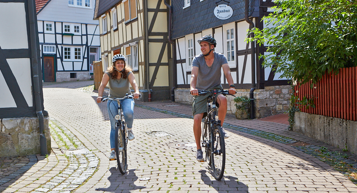 Radfahrer Urlaub in Korbach